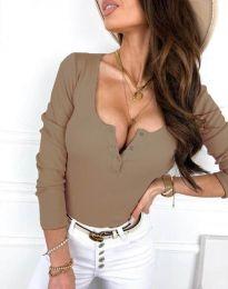 Дамска блуза в бежово - код 9054