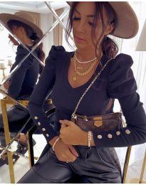 Дамска блуза в черно - код 2065