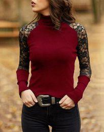 Атрактивна дамска блуза в цвят бордо - код 35288