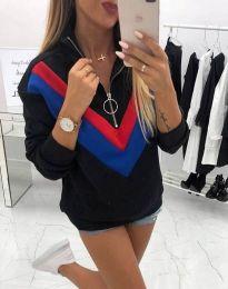 Ефектна дамска блуза в черно - код 7890