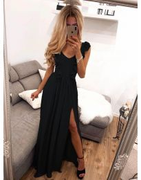 Елегантна рокля в черно - код 673