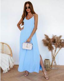 Ефирна рокля в светлосиньо - код 11881