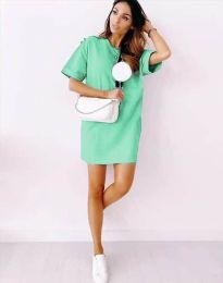 Свободна рокля в цвят мента - код 2231