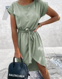 Дамска рокля в светлозелено - код 2074