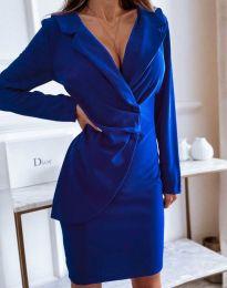 Елегантна рокля в тъмносиньо - код 4159