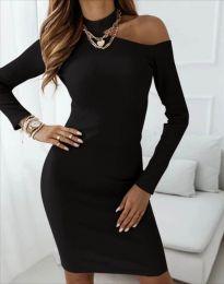Атрактивна дамска рокля в черно - код 4859