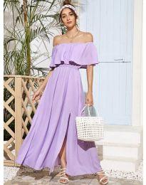 Дълга дамска рокля в лилаво - код 698