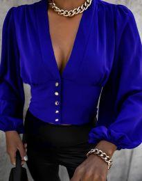 Екстравагантна дамска риза в синьо - код 2732
