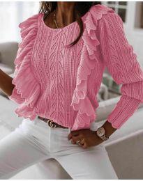 Дамски пуловер в розово - код 9087