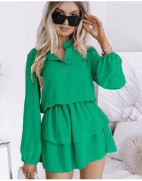 Дамска рокля в зелено - код 4093
