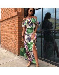 Многоцветна дамска дълга рокля - код 283 - 5
