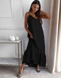 Свободна рокля в черно - код 4671