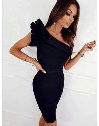 Елегантна рокля в черно - код 2049