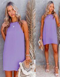 Свободна дамска рокля в лилаво - код 2169