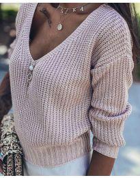 Дамски пуловер в бежово - код 1099