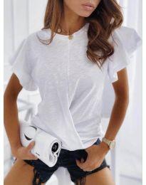 Дамска тениска тип прегърни ме в бяло - код 515