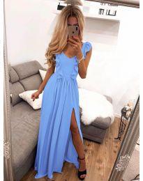 Елегантна рокля в светло синьо - код 673
