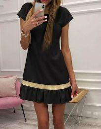 Стилна дамска рокля в черно - код 2532