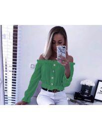 Кокетна дамска риза в зелено - код 7126