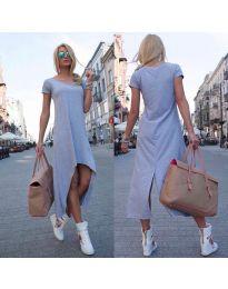 Свободна рокля в сиво - код 336