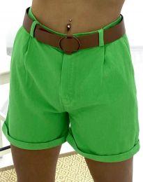 Къси дамски панталонки в зелено - код 2236