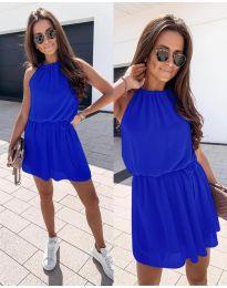 Ефирна дамска рокля в синьо - код 513