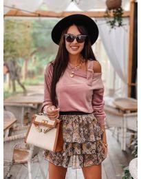Дамска блуза в цвят пудра - код 280