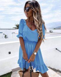 Кокетна рокля в светлосиньо - код 6460