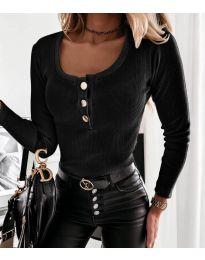 Изчистена дамска блуза в черно - код 4155
