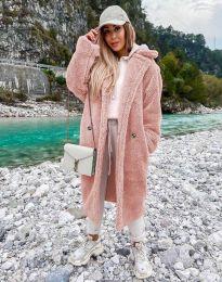 Дамско палто в розово - код 8302