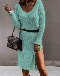 Дамска рокля в цвят мента - код 6829