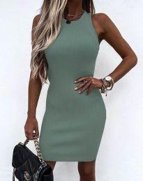 Изчистена рокля по тялото в цвят мента - код 6331