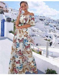 Феерична рокля в бяло - код 8582