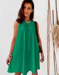 Свободна дамска рокля в зелено - код 9862
