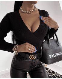Дамска блуза в черно - код 6392