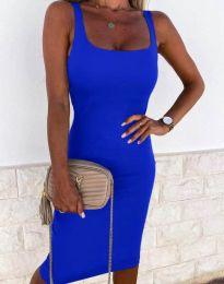 Елегантна рокля в синьо - код 8899