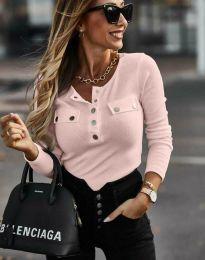 Ефектна дамска блуза в светлорозово - код 11516