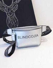 Дамска чанта в сребристо - код B291