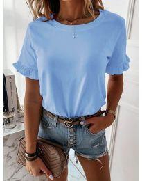 Дамска тениска в светло син цвят - код 068