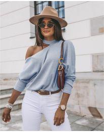 Дамска блуза в светло  синьо - код 5618