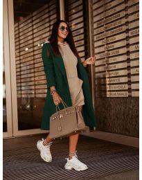 Дамско палто в зелено - код 7555