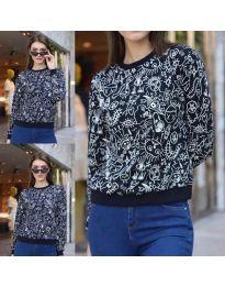 Дамска блуза с анимационен десен - код 1471 - 8