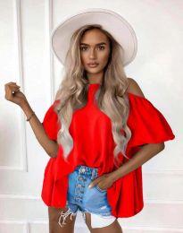 Атрактивна дамска блуза в червено - код 0157