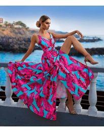 Феерична рокля с атрактивен десен - код 1139