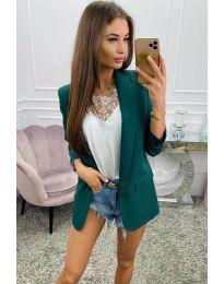 Дамско сако в маслено зелено - код 8031
