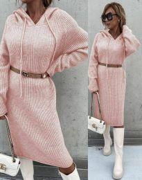 Изчистена дамска рокля в розово - код 6449