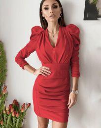 Дамска рокля в червено - код 7937