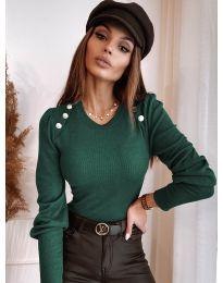 Дамска блуза в маслено зелено - код  3111