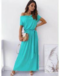 Изчистена рокля в цвят мента - код 7700