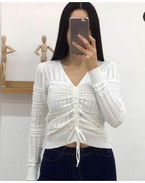 Дамска блуза в бяло - код 385